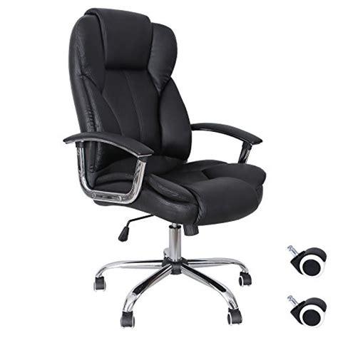 poltrone pc songmics noir chaise fauteuil de bureau chaise pour