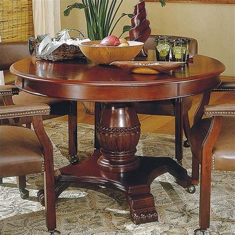 cherry kitchen table and chairs steve silver company tournament 48 quot wood casual dining table in cherry finish tu5050tb kit