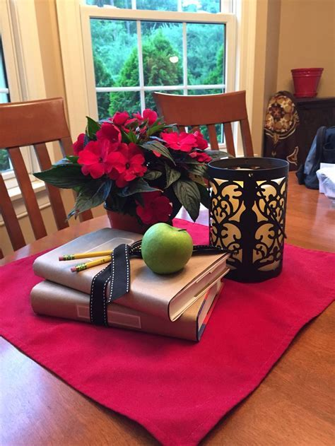 Retirement Party guest table centerpieces   Teacher's