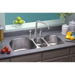 3 Bowl Kitchen Sinks Elkay Lustertone 39 5 Quot X 20 Quot Undermount Bowl Kitchen Sink Reviews Wayfair