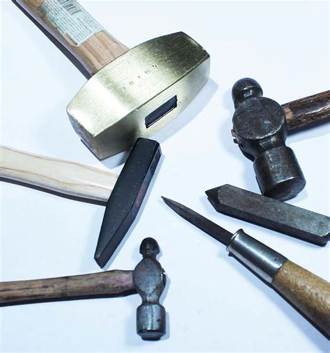 metal work layout tools texturing metal tools from around the house to use a