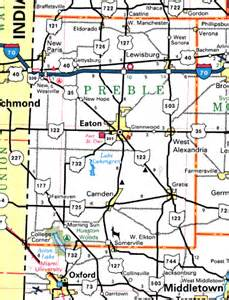 Eaton Ohio Map by Forgotten Ohio Preble County