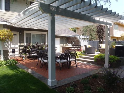 Brick Patio Pergola Fort Collins, CO Modern Patio Denver by Alpine Gardens