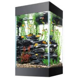 This beautiful 15 gallon aquarium comes with everything you need to