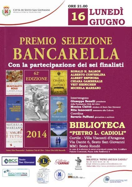 libreria tarantola sesto san premio selezione bancarella 2014