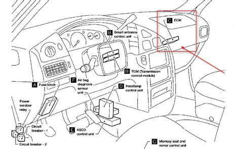 2000 nissan maxima ecu location nissan sentra gxe ecm location get free image about