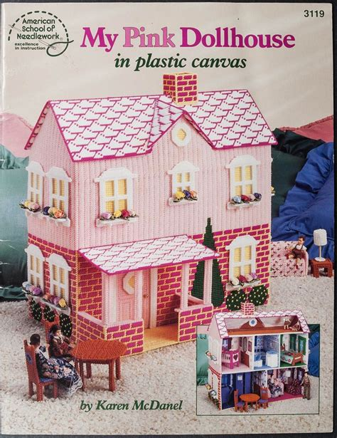 doll house pattern plastic canvas bear free patterens my pink dollhouse plastic canvas pattern book
