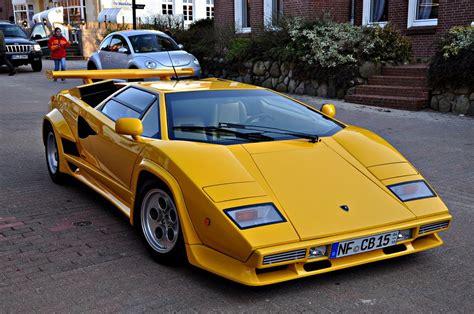 yellow lamborghini countach lamborghini countach 5000 quattrovalvole this body style