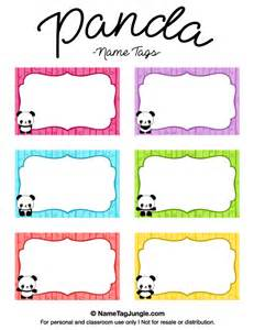 printable name templates free printable panda name tags the template can also be