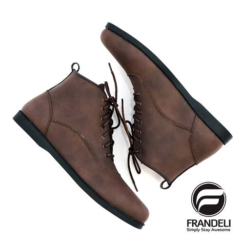Frandeli Sepatu frandeli sepatu pria boots lace up klasik original