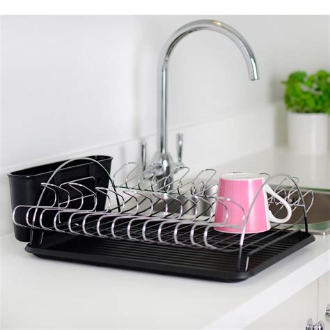 umbra sink dish rack drainer tray kitchen cups cutlery
