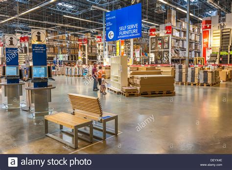 ikea inside customers inside warehouse part of ikea home store stock