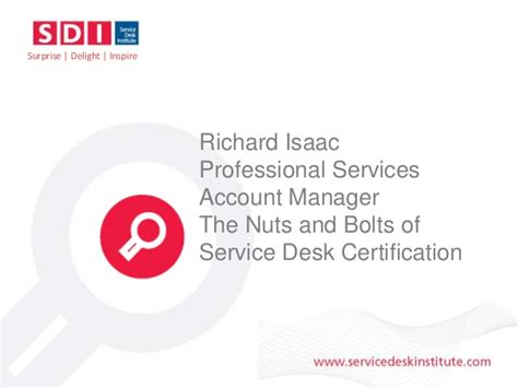 service desk certification an introduction