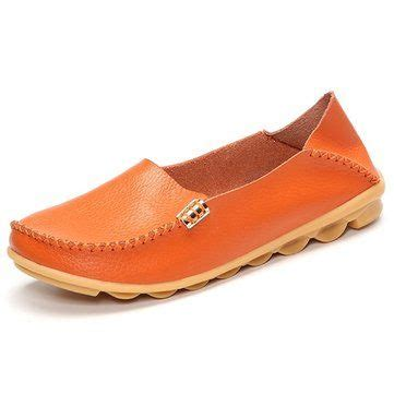 Flatshoes Pnc 3 socofy big size color soft slip on leather casual comfortable lazy flat shoes lazy big