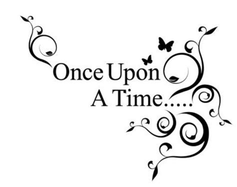 once upon a time quote removable vinyl wall decal stickers