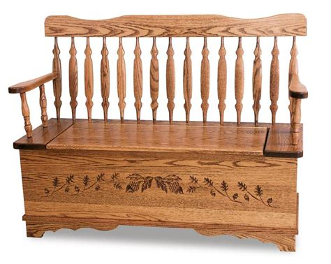 amish storage bench royal arrow acorn storage bench from dutchcrafters amish