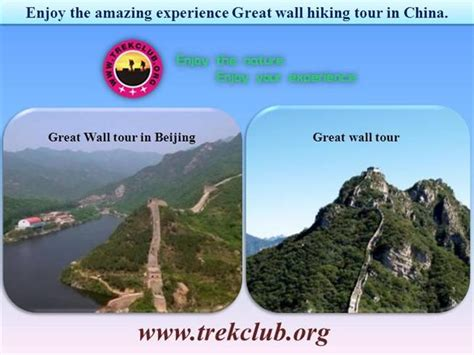 hiking route card template enjoy the amazing experience great wall hiking tour in
