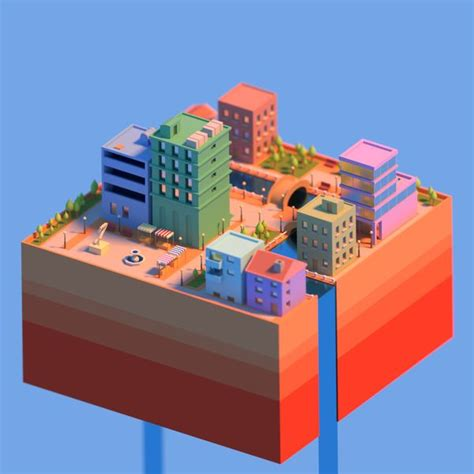 simple voxel floating island blender 3d youtube 192 best images about isometric on pinterest behance