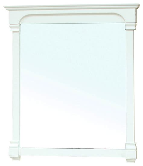 42 inch solid wood frame mirror white modern