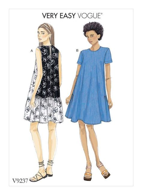 dress pattern finder very easy vogue patterns v9237 misses a line back ruffle