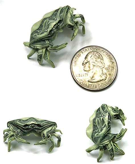 1 Dollar Bill Origami - seawayblog 10 origami of aquatic animals folded with 1