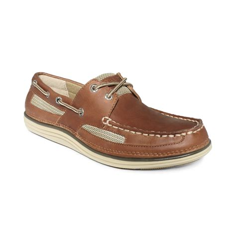 sperrys shoes sperry top sider lightship 2 eye boat shoes in brown for