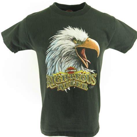 Eagle T Shirt vintage 90s 3d emblem harley davidson shop t shirt m eagle