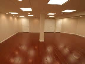 hardwood floor basement rooms