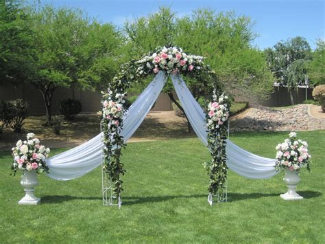 wedding arch flower swag at the altar on wedding arches altars and arches