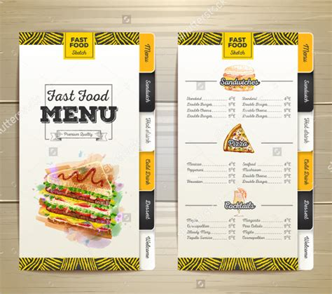 food menu design template birthday menu templates 19 free psd eps indesign