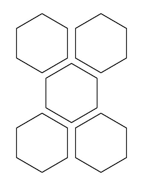 6 inch hexagon template 3 5 inch hexagon pattern use the printable outline for