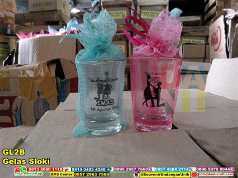 Gelas Sloki Kecil 1 Dus 6 Pcs souvenir gelas murah gelas souvenir souvenir gelas nikah souvenir pernikahan