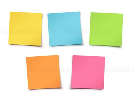 Sticky Notes colorful sticky notes fox graphics