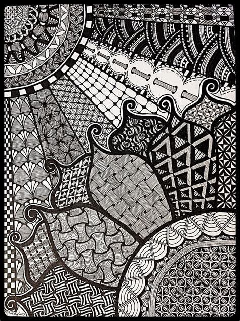 pattern art exles 526 best images about zentangle flowers on pinterest