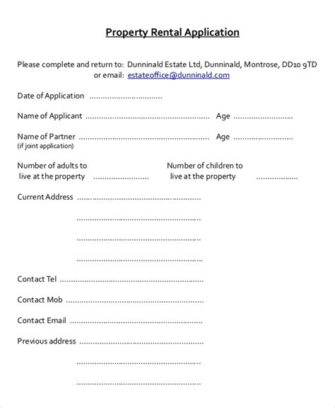 property rental application form template 17 printable rental application templates free