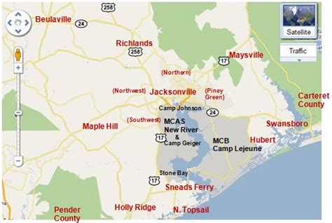 c lejeune carolina map your guide to jacksonville nc home of c lejeune and