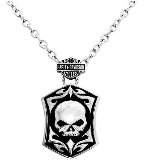 Gelang Logo Skull Hd Chain Stainless Steel harley davidson s steel skull tag necklace hsn0002 22 ebay