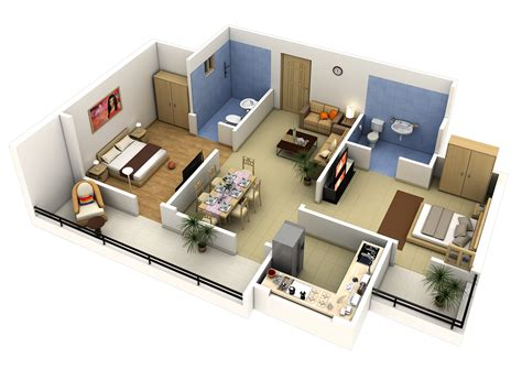 floor plan in 3d tech n gen