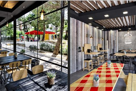 hamburger house goody s burger house by chadios associates athens greece 187 retail design blog