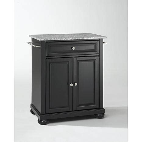 crosley alexandria solid granite top portable kitchen solid grey granite top portable kitchen island 10069278