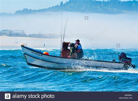 dory boat oregon pacific city oregon usa july 2 2015 a dory boat