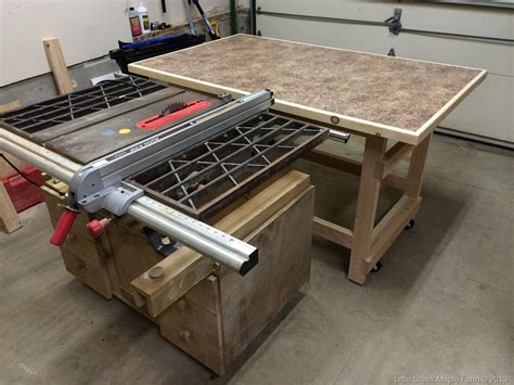 how to make a table saw bench build table saw bench plans diy free kids playhouse