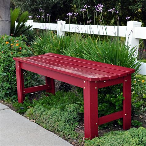 colored benches 4 ft backless garden bench colors