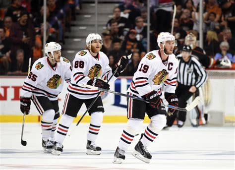 toews and kane fight on bench gary bettman bullish on nhl business cool to concussions