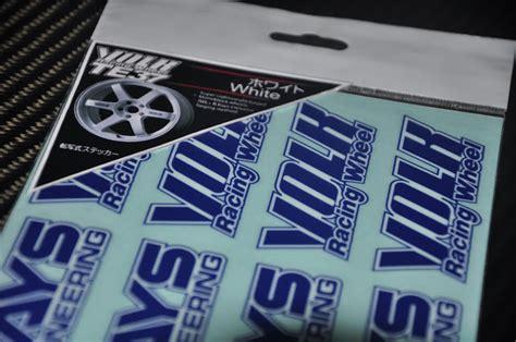 Sticker Rays Volk Racing Original Velg Sticker Mobil volk rays racing te37 white colour sticker autodecalshouse store