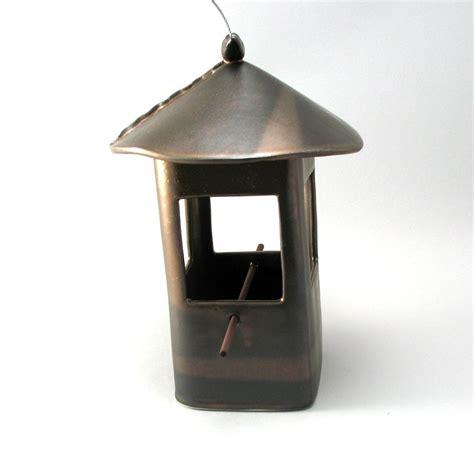 Circular Bird Feeder Wide Bird Feeder By Cheryl Wolff Ceramic Birdfeeder