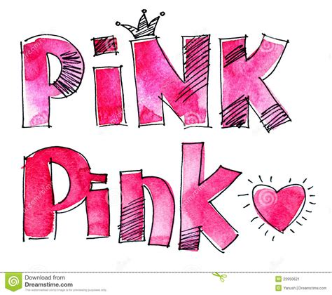 word pink stock image image 23950621