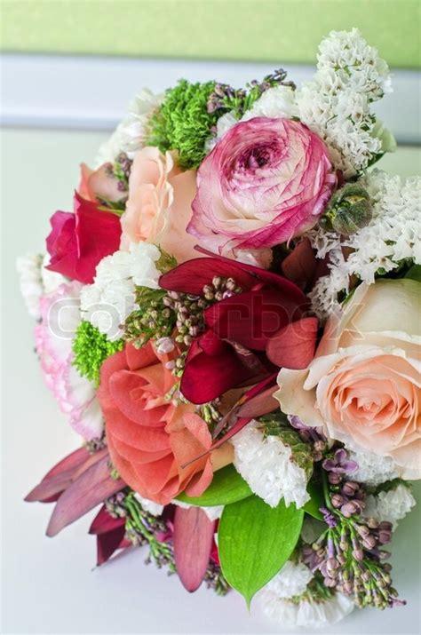 Goldene Hochzeit Bilder 3264 by Hochzeit Blumenstrau 223 Closeup Am Tisch Stock Foto