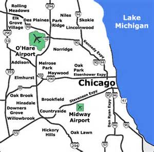 Chicago International Airport Map by Chicago Limo Services Ord O Hare Airport Transportation