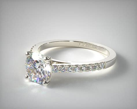 pave engagement rings pave cathedral engagement ring 14k white gold
